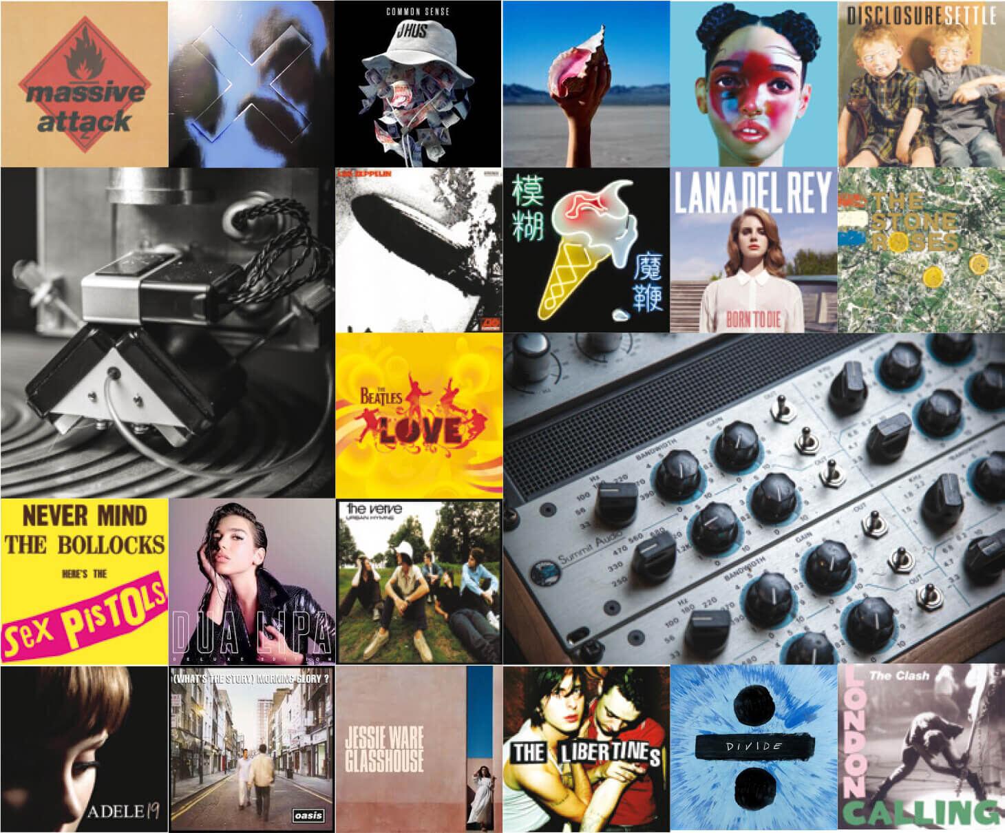 Artists album art collage