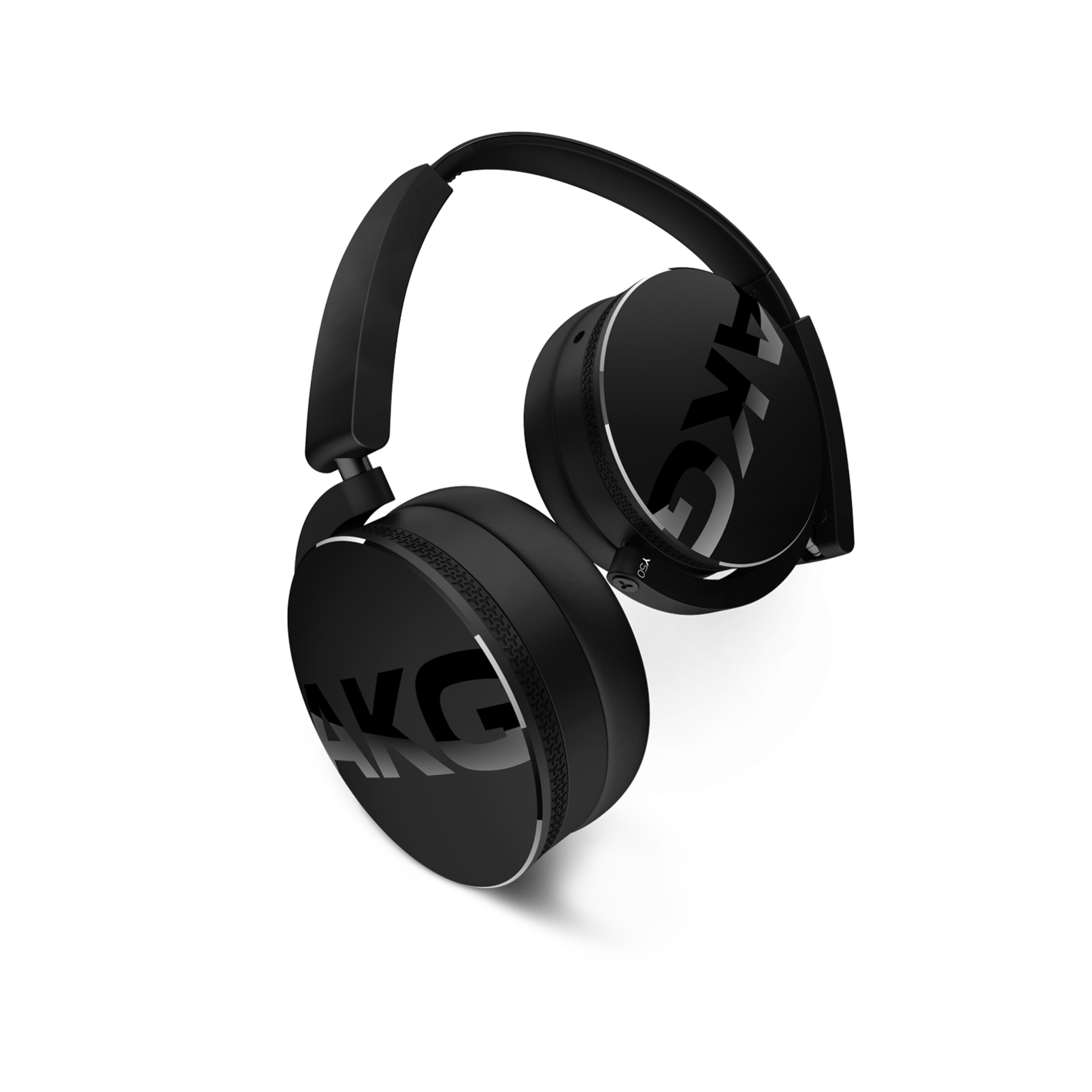 Y50 - Black - On-ear headphones with AKG-quality sound, smart styling, snug fit and detachable cable with in-line remote/mic - Hero